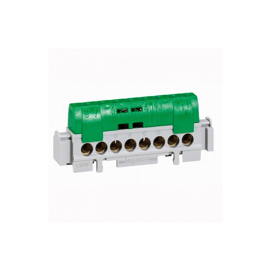 Клеммная колодка IP 2X - нейтраль - синий - длина 47 мм