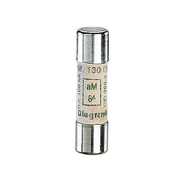 Промышленный цилиндрический предохранитель аМ 10x38 8а 500В без индикатора