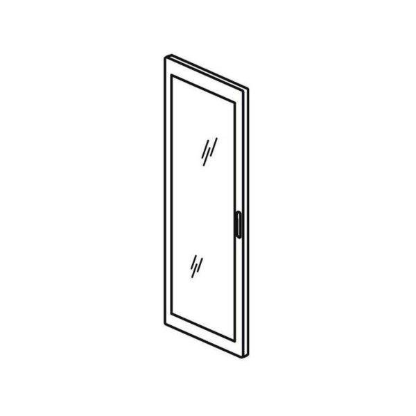 Реверсивная дверь остекленная - XL³ 4000 - ширина 725 мм