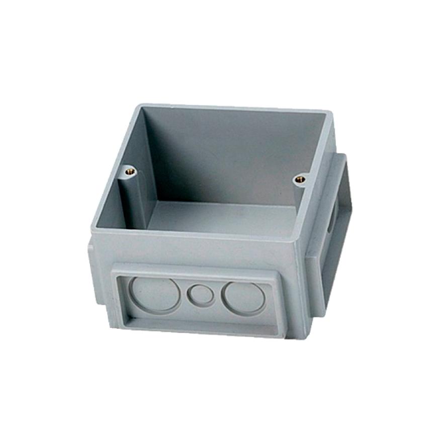 Монтажная коробка для выдвижного розеточного блока – 3 модуля – пластик 1