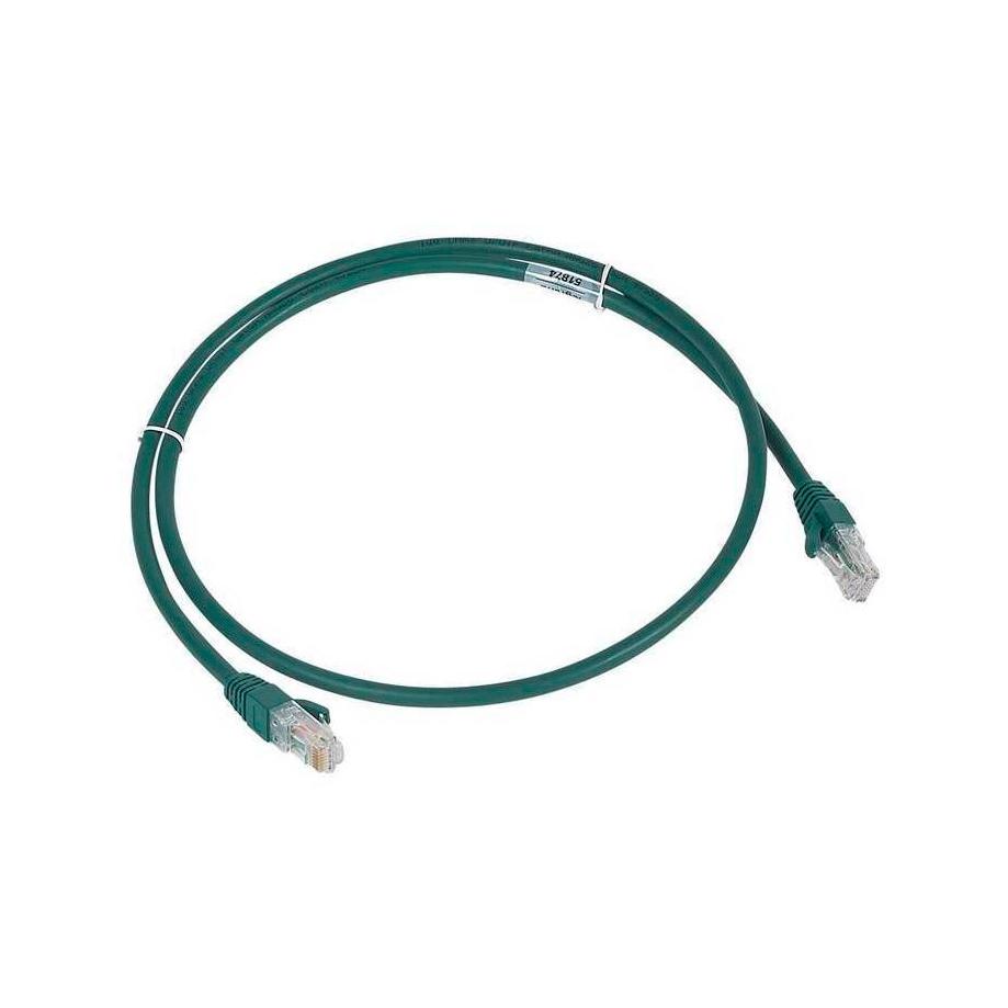 Шнур коммутационный RJ 45 - категория 6a - U//UTP - LSZH - неэкранированный - 1 м - зеленый