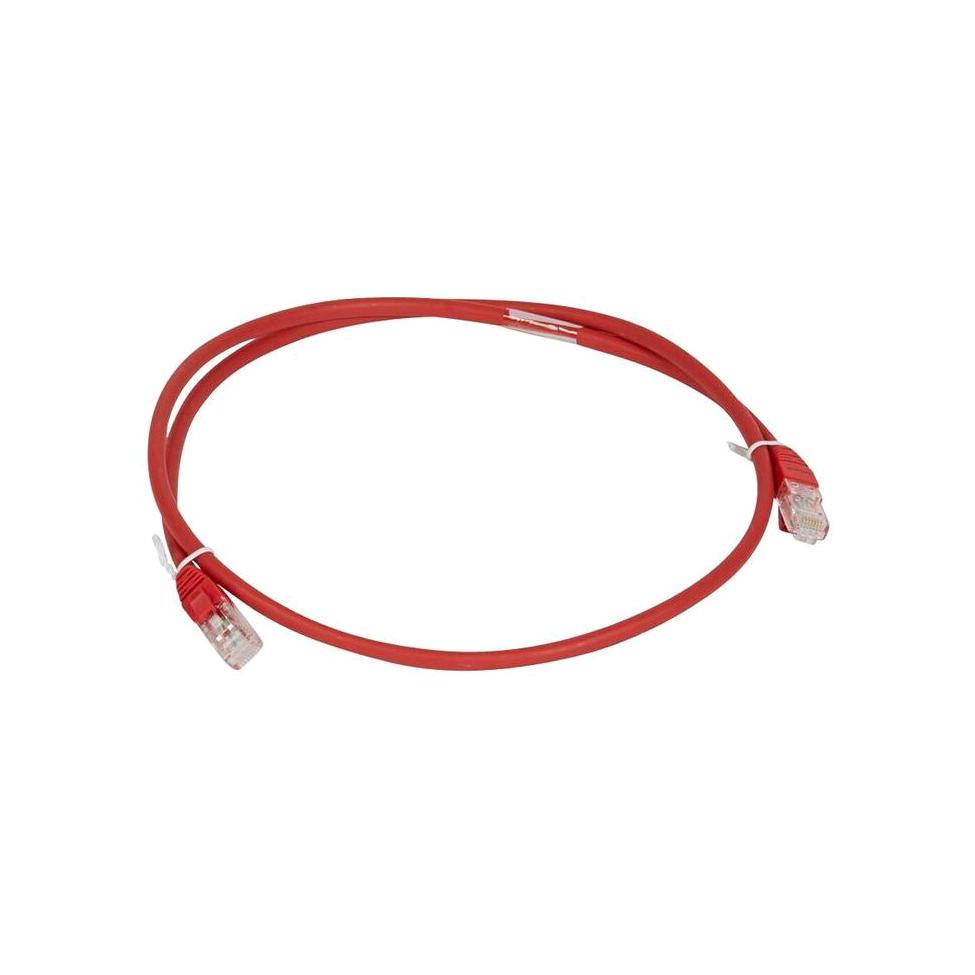 Шнур коммутационный RJ 45 - категория 6a - U//UTP - LSZH - неэкранированный - 2 м - красный