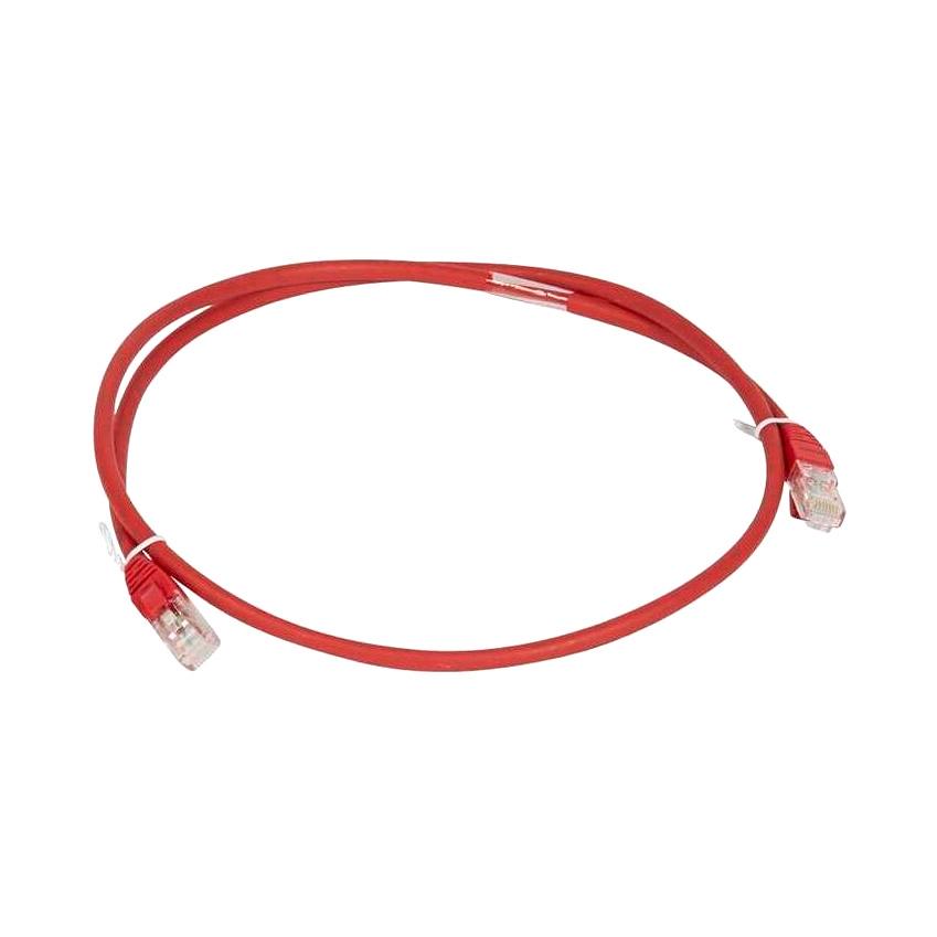 Шнур коммутационный RJ 45 - категория 6a - U//UTP - LSZH - неэкранированный - 1 м - красный