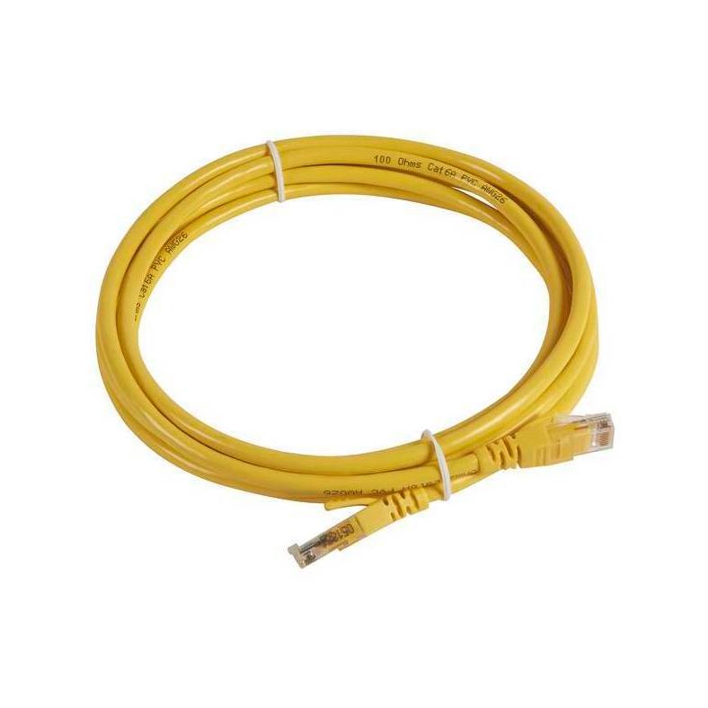 Шнур коммутационный RJ 45 - категория 6a - U//UTP - PVC - неэкранированный - 5 м - желтый