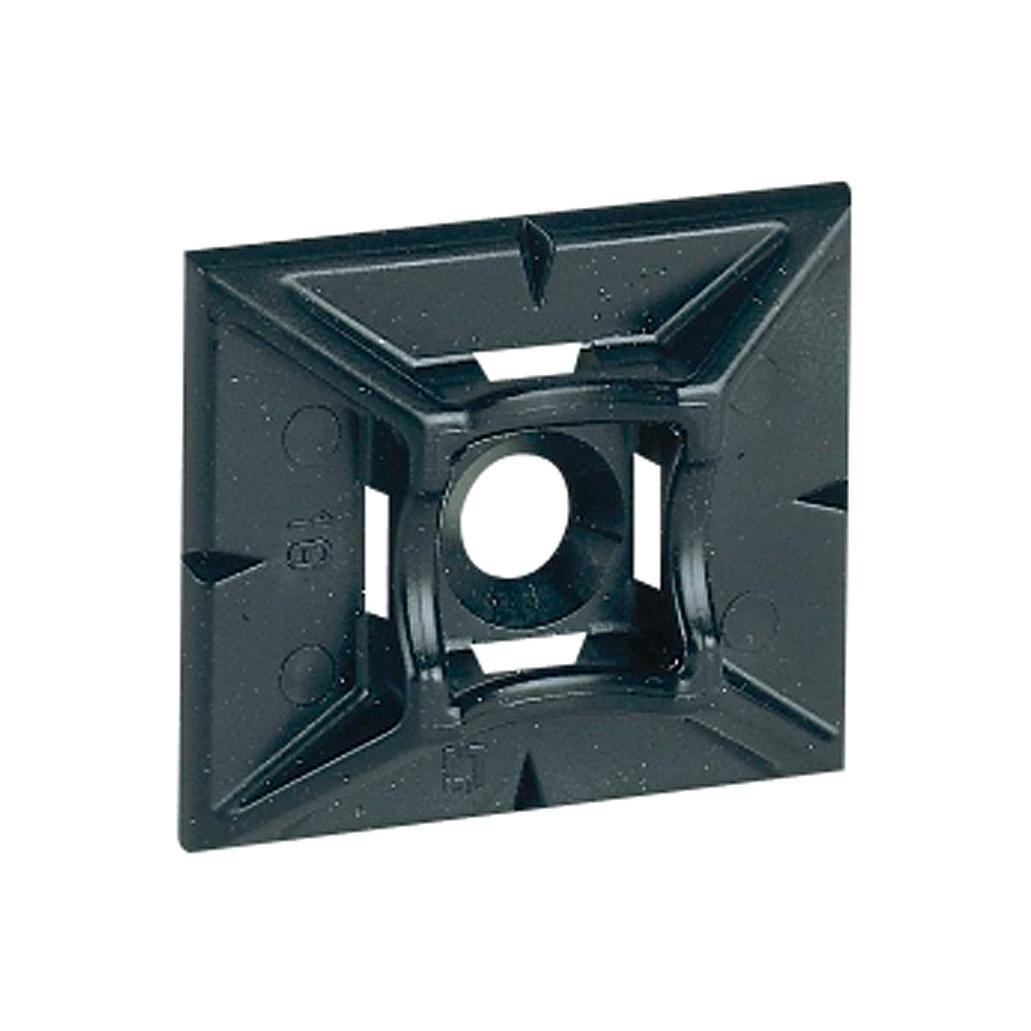 Самоклеющаяся площадка Colring - для хомутов шириной 4,6 мм - чёрная
