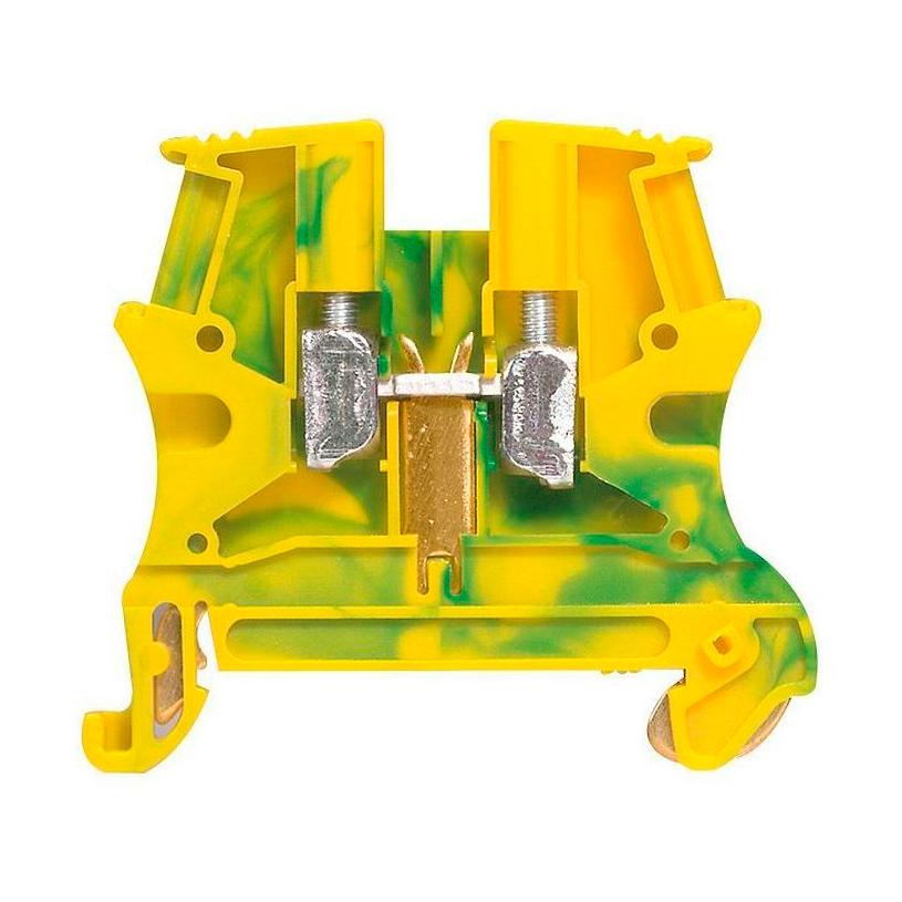 Клемма для заземления с винтовым зажимом Legrand Viking 3 4 мм², желто-зеленый, 037171