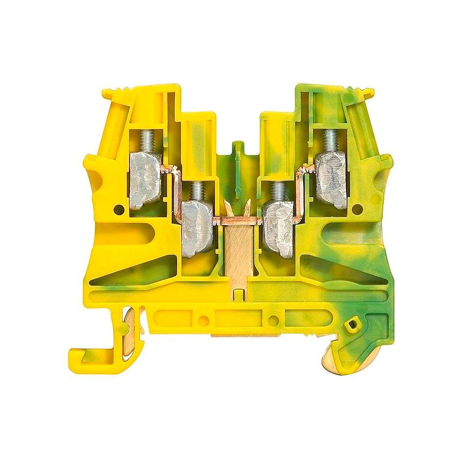 Клемма для заземления с винтовым зажимом Legrand Viking 3 4 мм², желто-зеленый, 037179