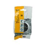 Розетка РС11-1-0-Б с заземляющим контактом 16А BOLERO серебряный IEK 2