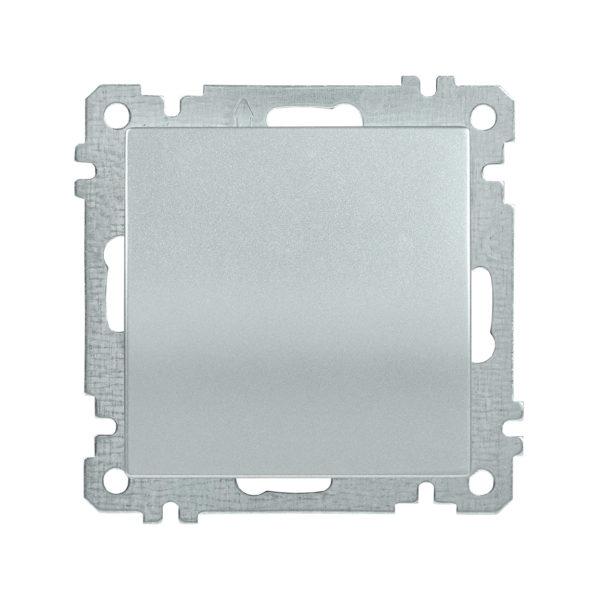 Выключатель 1-клавишный ВС10-1-0-Б 10А BOLERO серебряный IEK
