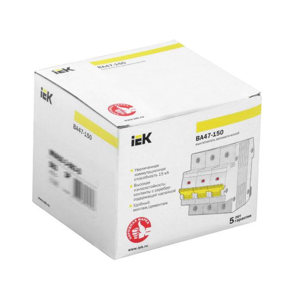 Выключатель автоматический ВА47-150 3Р 125А 15кА C IEK