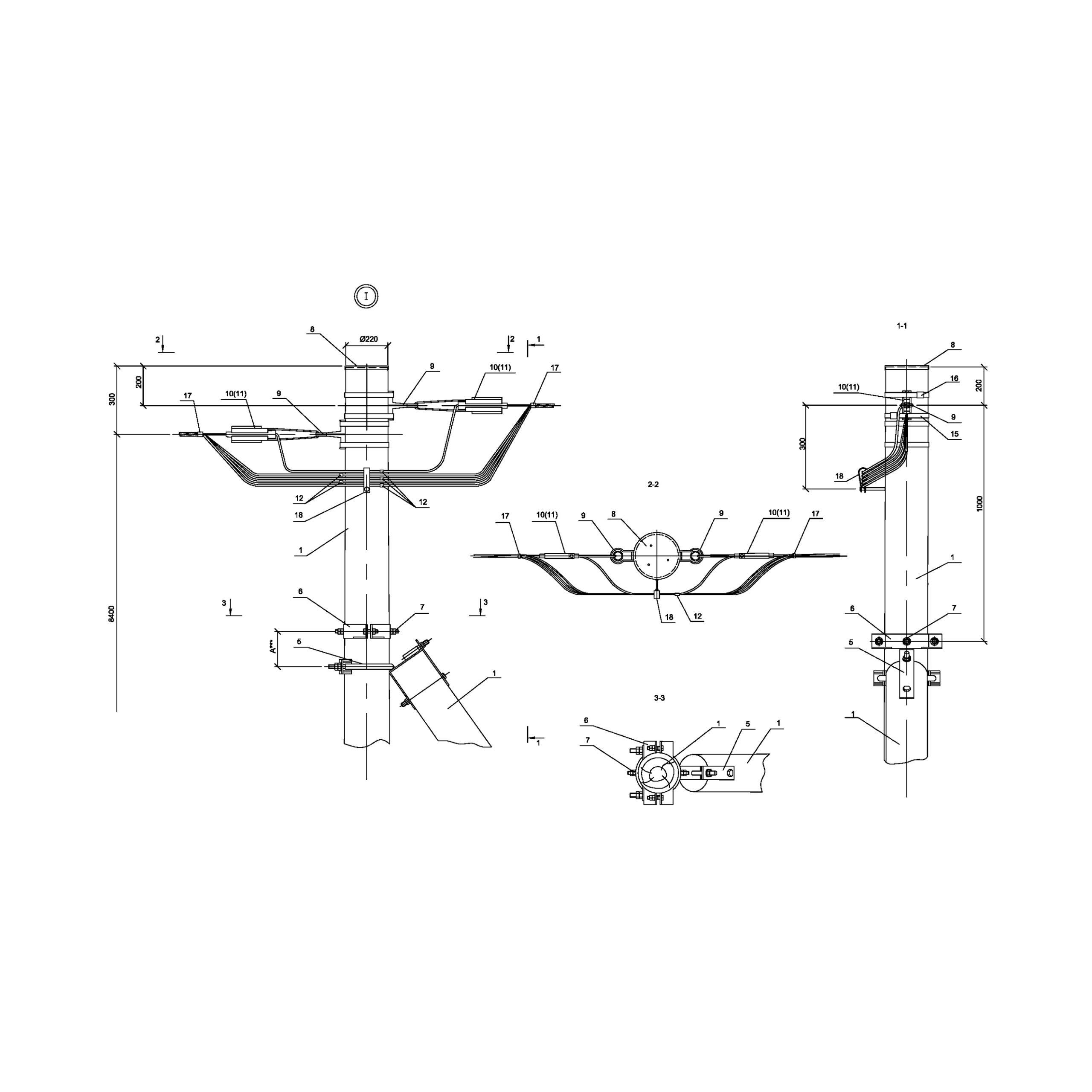 Опора ПАд15 деревянная анкерная переходная одноцепная IEK