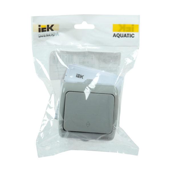 Выключатель 1-клавишный для открытой установки проходной ВС-20-1-2-А 10А IP54 AQUATIC IEK