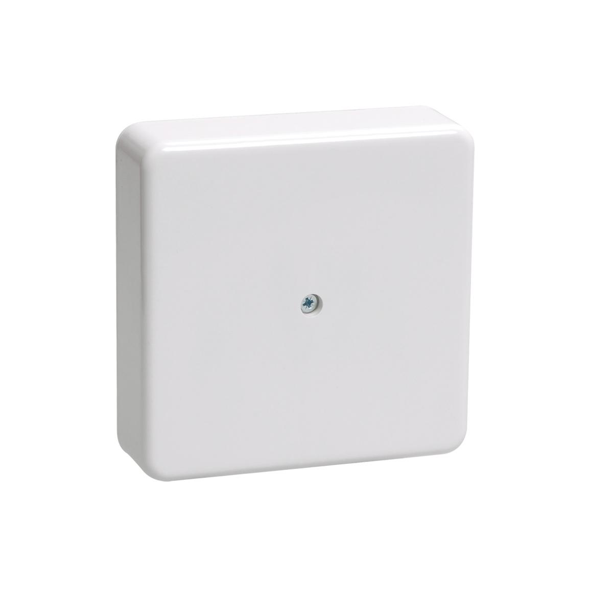 Коробка распаячная КМ41219 для открытой проводки 100х100х29мм белая (6 клемм 6мм2) IEK