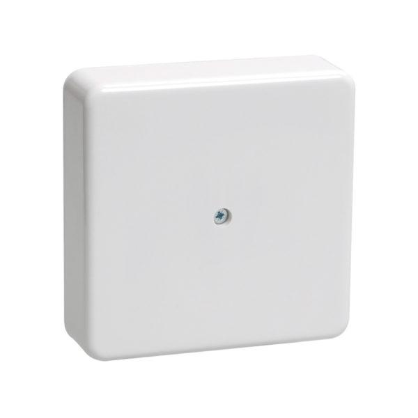 Коробка распаячная КМ41212-01 для открытой проводки 75х75х20мм белая (6 клемм 6мм2) IEK