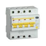 Дифференциальный автоматический выключатель АД14S 4Р 20А 300мА IEK