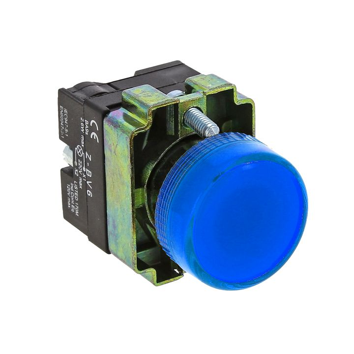 Лампа сигнальная BV66 синяя EKF PROxima