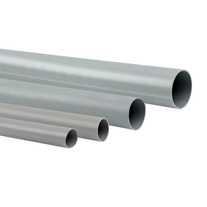 Труба гладкая жесткая ПВХ d40 EKF серая (57м/уп) (3м.) EKF PROxima