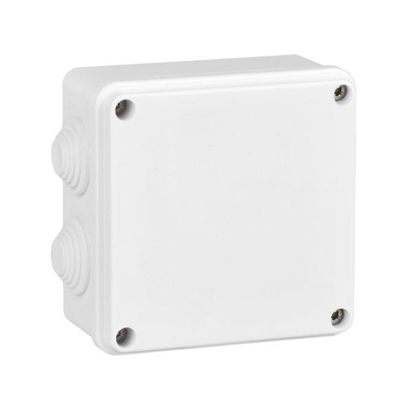 Коробка распаячная КМ для открытой проводки 100х100х50мм белая IEK
