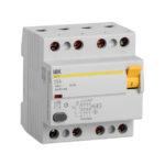 Выключатель дифференциальный (УЗО) ВД1-63 4Р 25А 100мА IEK 1