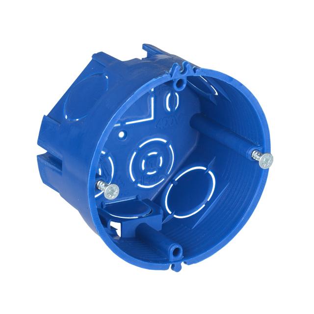 Коробка установочная С3 D=68х40мм для твердых стен (с саморезами) (оптовая упаковка) IEK