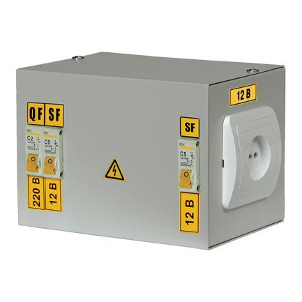 Ящик с понижающим трансформатором ЯТП-0,25 230/42-3 36 УХЛ4 IP30 IEK
