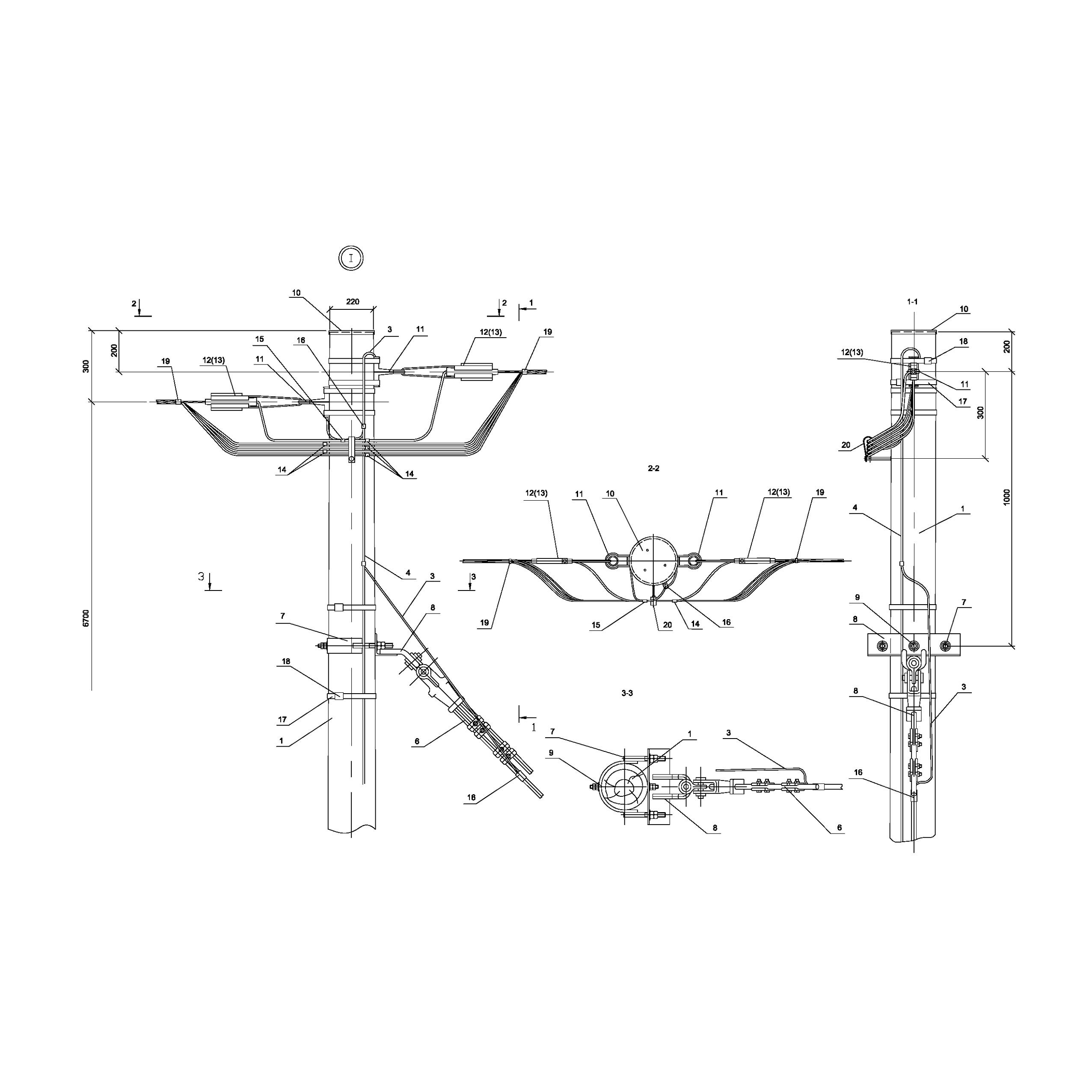 Опора Кд151 деревянная концевая одноцепная IEK
