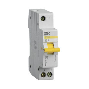 Выключатель-разъединитель трехпозиционный ВРТ-63 1P 32А IEK