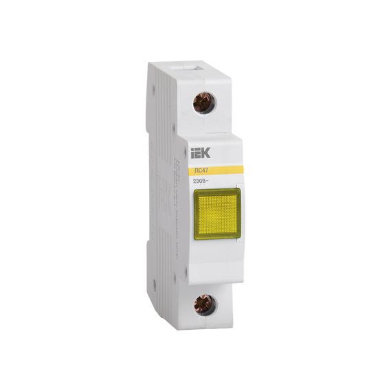 Лампа сигнальная ЛС-47 неон желтая IEK