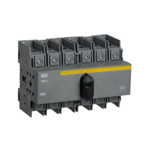 Выключатель-разъединитель модульный ВРМ-3 3P 80А IEK