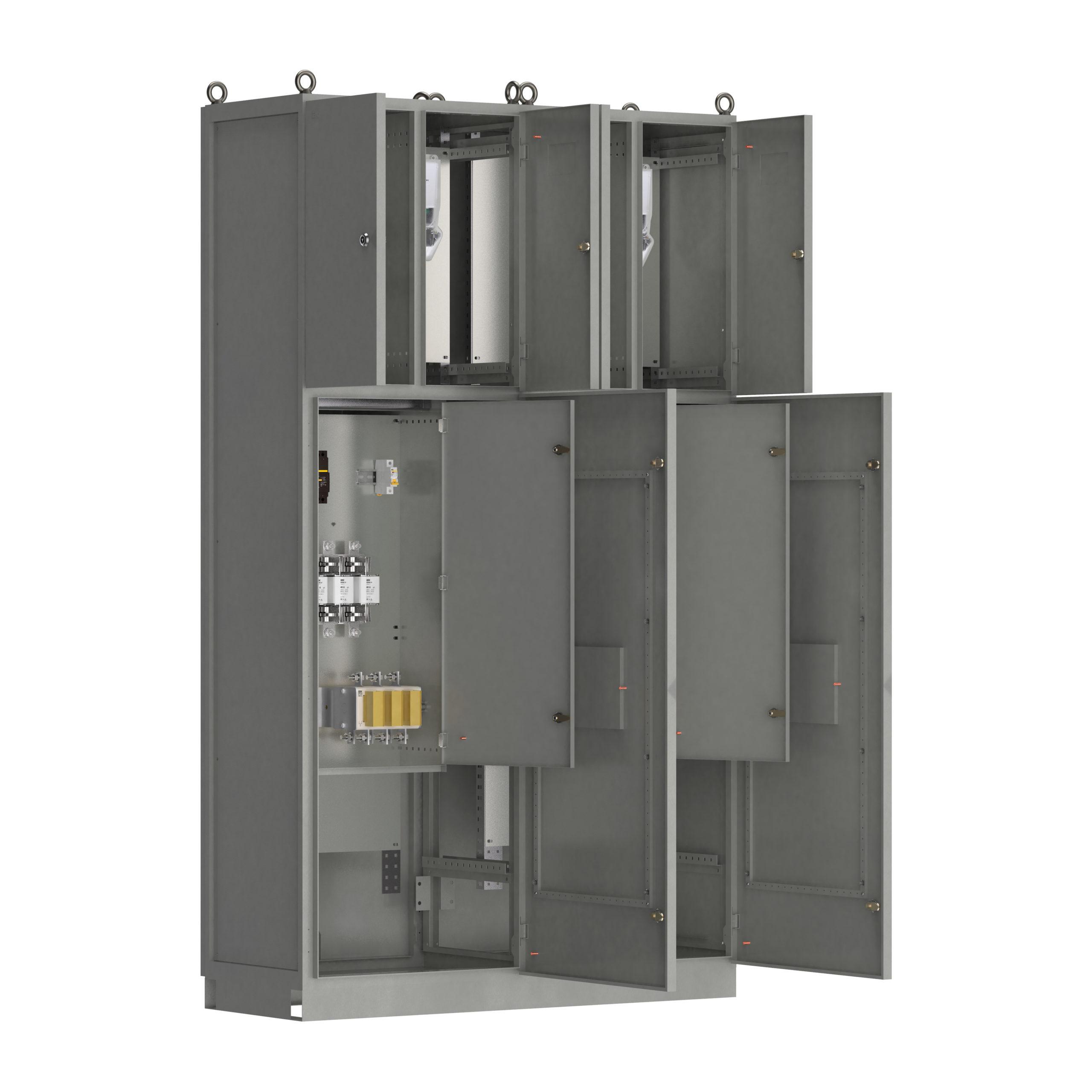 Панель вводная ВРУ1-12-10 УХЛ4 выключатели автоматические 1Р 2х6А рубильники 2х250А плавкие вставки 6х250А и учет IEK