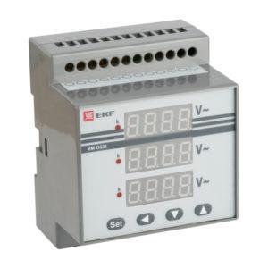 VD-G33 Вольтметр цифровой на DIN трехфазный EKF PROxima