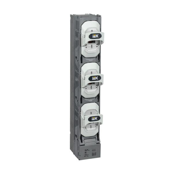 Предохранитель-выключатель-разъединитель ПВР-1 вертикальный 400А 185мм с пофазным отключением c V-образными коннекторами IEK