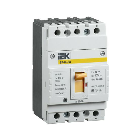 Выключатель автоматический ВА44-33 3Р 50А 15кА IEK