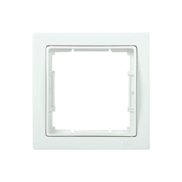 Рамка 1-местная квадратная РУ-1-ББ BOLERO Q1 белый IEK