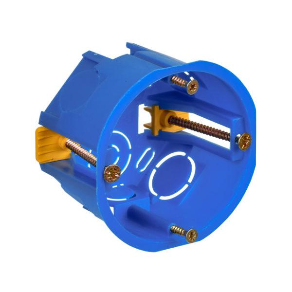 Коробка установочная С3 D=68х45мм для полых стен (с саморезами и пластиковыми лапками) IEK