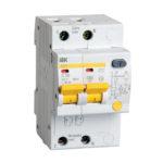 Дифференциальный автоматический выключатель АД12 2Р 50А 30мА IEK 1