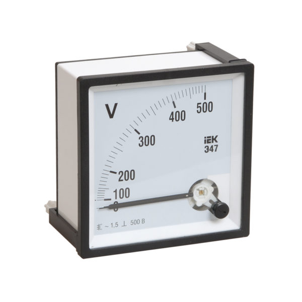 Вольтметр аналоговый Э47 500В класс точности 1,5 72х72мм IEK