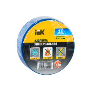 Изолента 0,13х15мм синяя 10м IEK