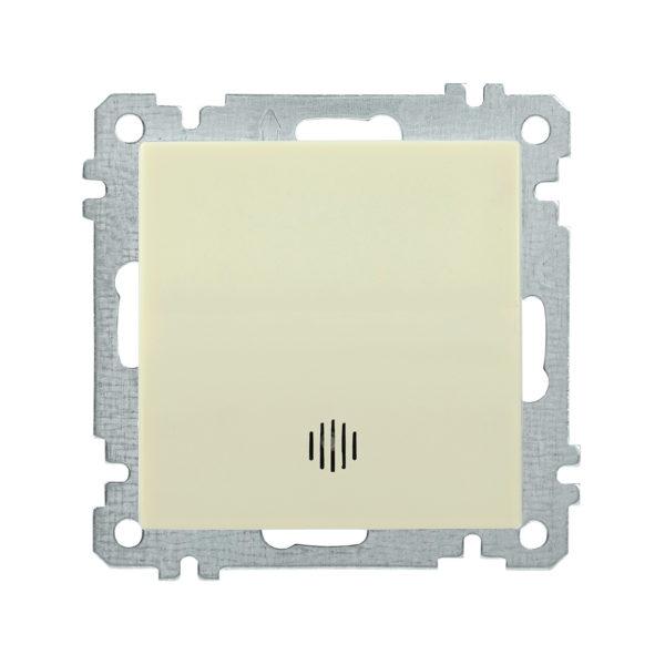Выключатель 1-клавишный с индикацией ВС10-1-1-Б 10А BOLERO кремовый IEK