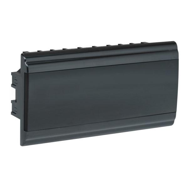 Корпус модульный пластиковый встраиваемый ЩРВ-П-18 PRIME черный IP41 IEK