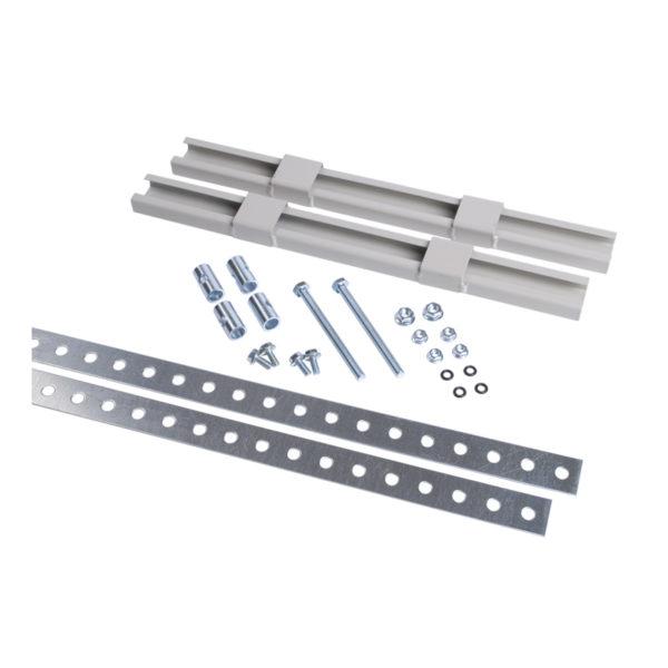 Комплект крепления металлокорпуса к столбу монтажной полосой IEK