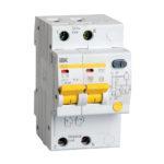 Дифференциальный автоматический выключатель АД12 2Р 16А 30мА IEK 1