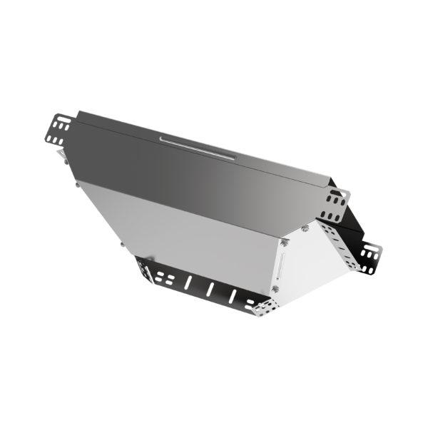 Ответвитель Т-образный вертикальный вниз боковой 100х400 HDZ IEK