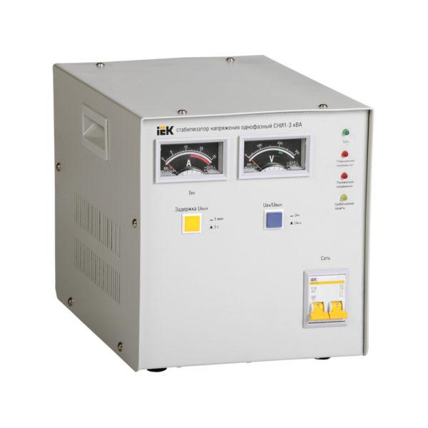 Стабилизатор напряжения однофазный СНИ1-3 кВА IEK (восстановленный)