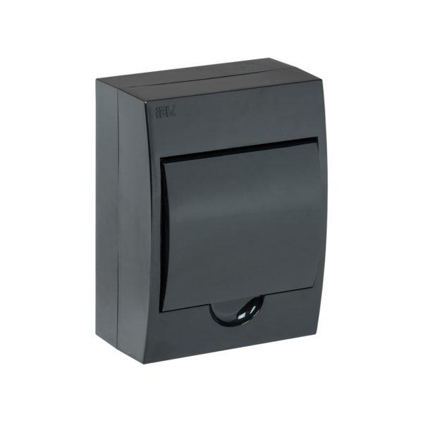 KREPTA 3 Корпус пластиковый ЩРН-П-6 IP41 черная дверь черный IEK