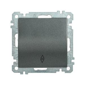 Выключатель 1-клавишный проходной ВС10-1-2-Б 10А BOLERO антрацит IEK