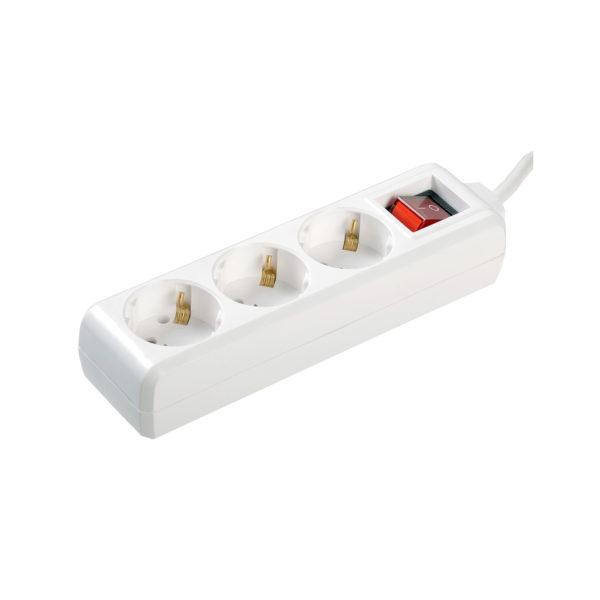 Удлинитель У03К-выкл. 3 места 2P+PE/1,5м 3х1мм2 16А/250В IEK