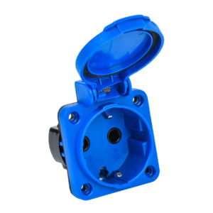 MAGNUM Розетка панельная SCHUKO РП12-3 IP54 синий IEK