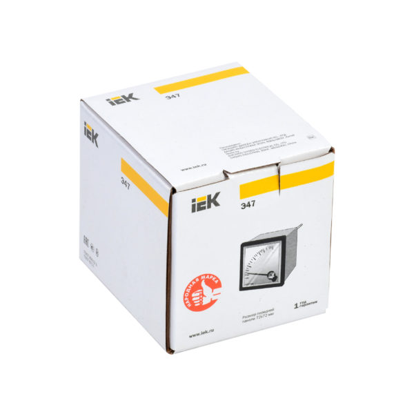 Амперметр аналоговый Э47 10А класс точности 1,5 72х72мм IEK