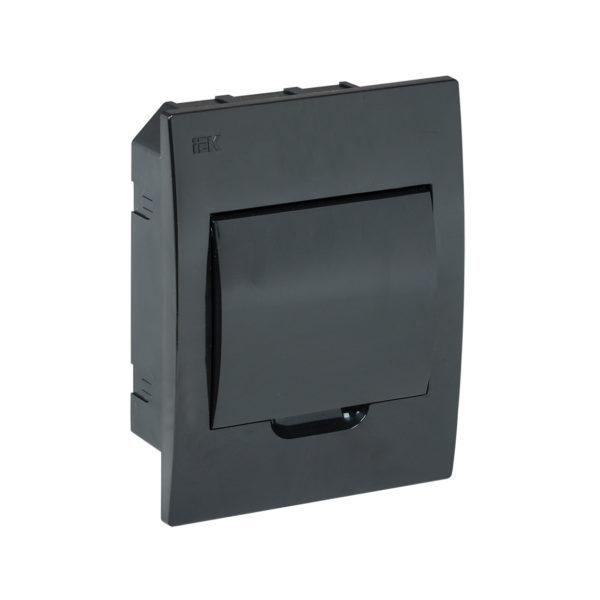 KREPTA 3 Корпус пластиковый ЩРВ-П-6 IP41 черная дверь черный IEK